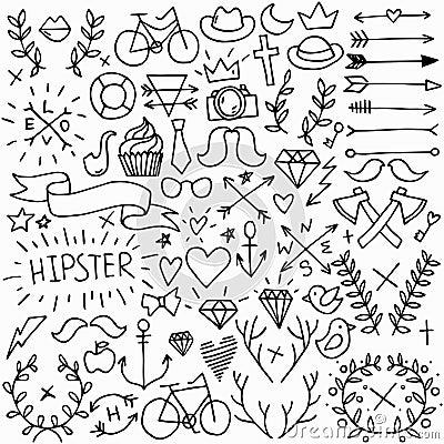 Free Big Hipster Set Stock Image - 46956161