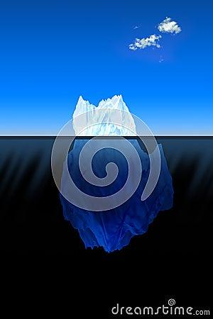 Big iceberg in the ocean