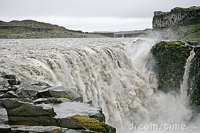 Big Iceland waterfall