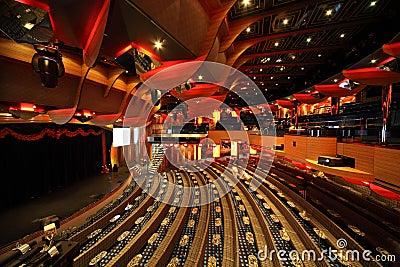 Big illuminated hall, scene in Costa Deliziosa Editorial Photography