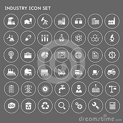 Big Industry icon set Vector Illustration