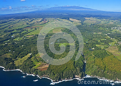 Big Island, Hawaii, an aerial view