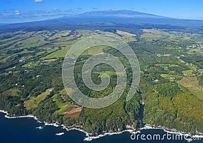 Big Island, Hawaii, an aerial view