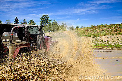 Big Jeep and a muddy splash 3