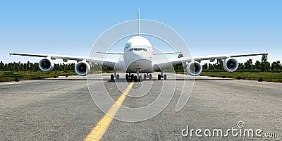 big jet transporter 3d illustration