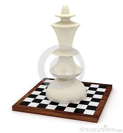 Big king on chessboard