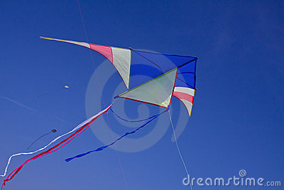 A big kite in the blue sky