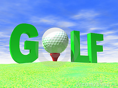 Big Letters Spell Golf