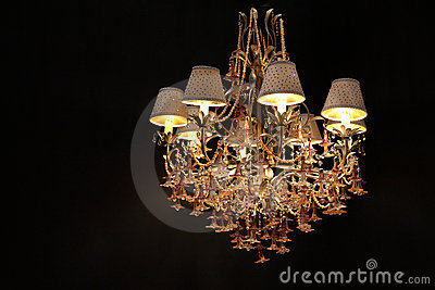 Big luxury chandelier