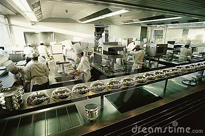 Big luxury restaurant kitchen