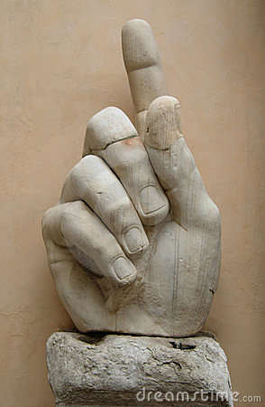 Big marble hand at Roman Museum
