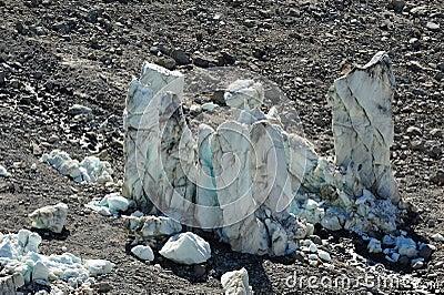Big melting ice towers