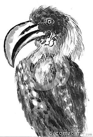 Big mouth bird