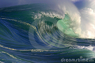 Big Ocean Wave in Hawaii