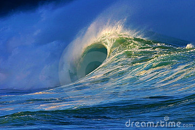 Big Ocean Wave at Waimea Bay Beach