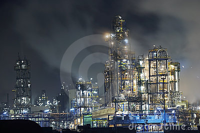 Big oil refinery