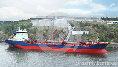 Big oil tanker