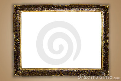 big old frame isolated royalty free stock images image 11812189