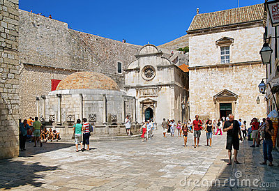The Big Onofrio fountain in Dubrovnik, Croatia Editorial Stock Image