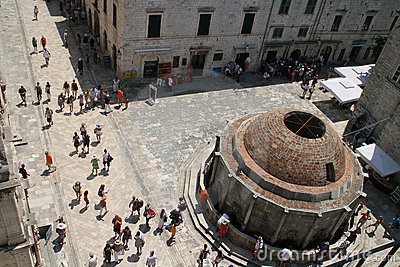 Big Onofrio s fountain, Dubrovnik Editorial Stock Photo