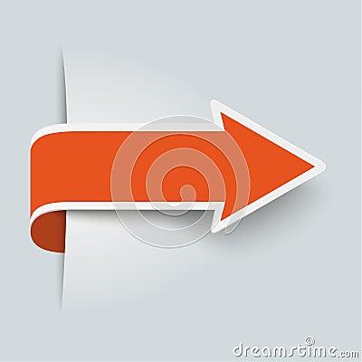 Free Big Orange Arrow Stock Images - 40938084