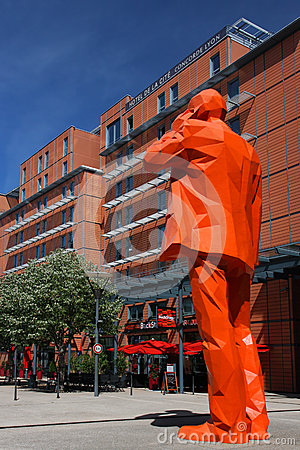 Big Orange Business Man Editorial Stock Image