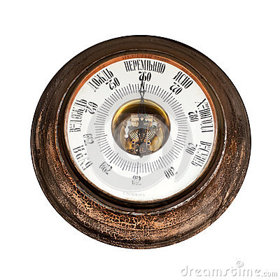 Big outdoor vintage barometer