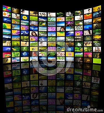 Free Big Panel Of TV Stock Photography - 7292932