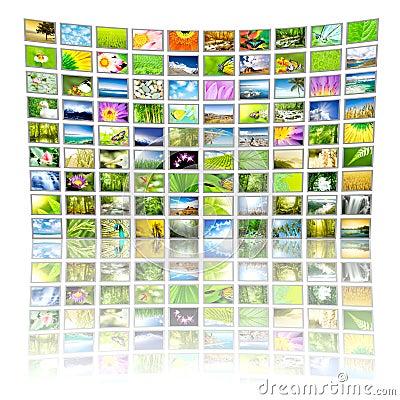 Free Big Panel Of TV Stock Photos - 8458693