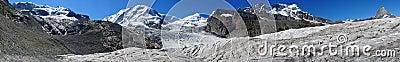 Big Panorama of 4000-meter-peaks