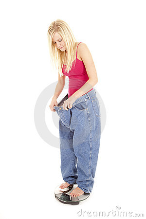 Free Big Pants Scales Look Down Royalty Free Stock Images - 18514699