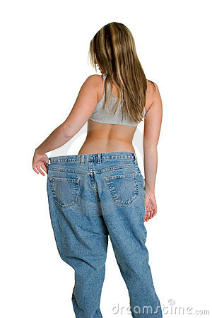 Big Pants Skinny Woman