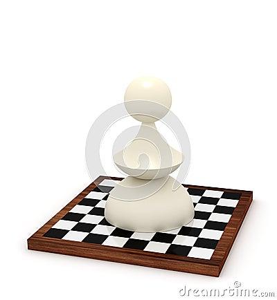 Big pawn on chessboard