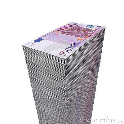 Big Pile of Money - 500 Euro Notes
