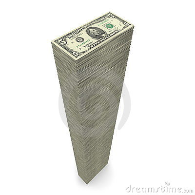 Free Big Pile Of Money � 5 Dollar Notes Royalty Free Stock Images - 9030419