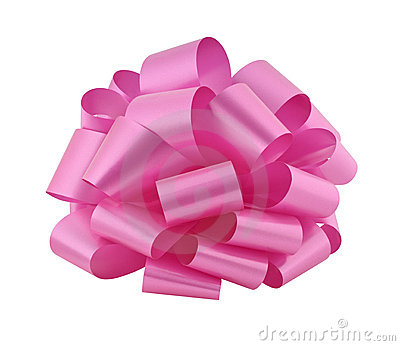 Big pink ribbon bow cutout