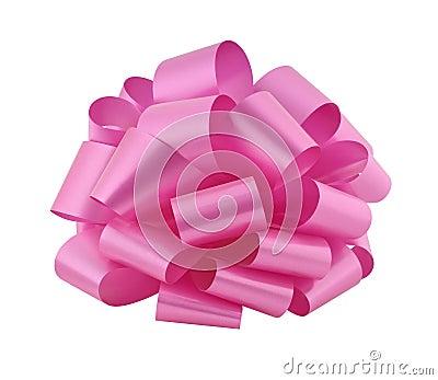 Big pink ribbon bow cutout