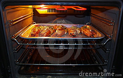 Big Prawns Baking Oven