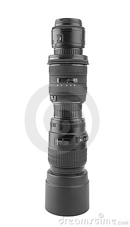 Big professional photographic lens