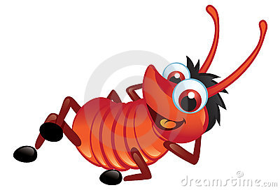 Big Red Bug With A Grin Relaxing
