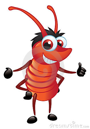 Big Red Bug With A Grin Standing