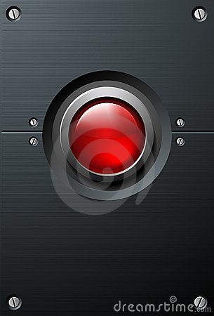 Free Big Red Button Stock Image - 7633031