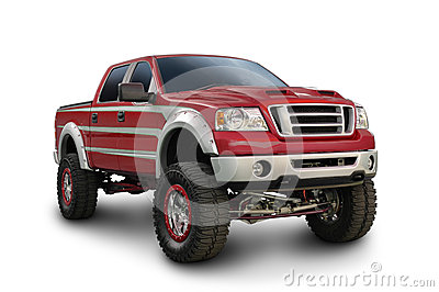 Big Red Ford Truck