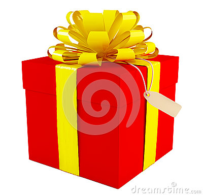 Big red gift box