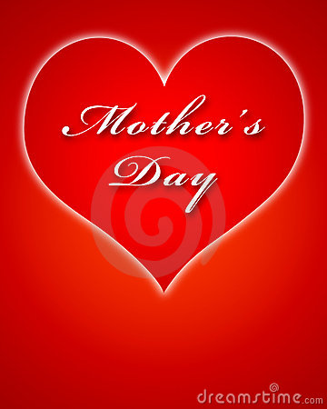 Big red heart for Mother s Day