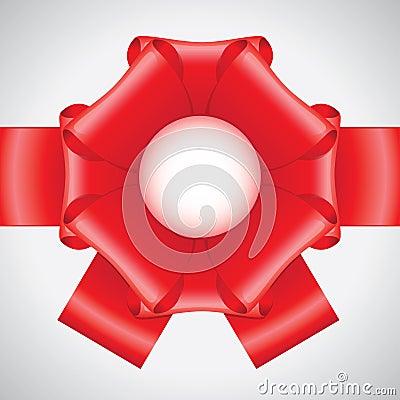 Big red ribbon bow