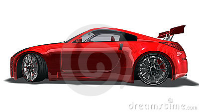 Big red sports car