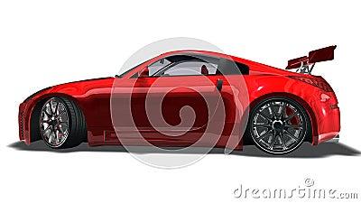 Big red sports car