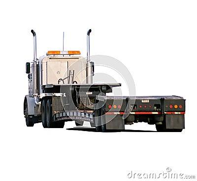 Big rig with drop-deck trailer