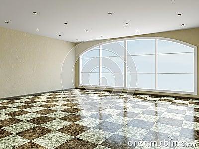 The big room with window